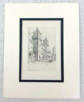 1901 Antico Incisione The Castle Presso Ferrara Italia Art Joseph Pennell Stampa