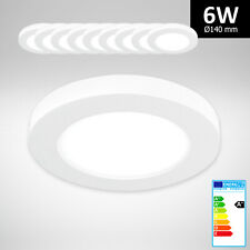 10x Xtend LED Panel Aufputzlampe Einbauspot rund 6W dimmbar Neutralweiß