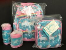 Pottery Barn Kids Unicorn Small Backpack Lunch Box Water Bottle Hot/Cold