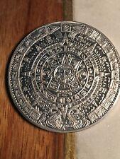 Aluminum Aztec Calendar 2 3/8�Polished Modern Style Hand Made Craft Mexico Nice