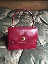 Gucci Borsa Vintage Originale Lucertola Bordeaux