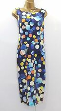BNWT Gizia Ladies Wiggle Dress Sz 14 Navy Dot Spot Midi Designer Party Occasion