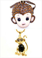 vintage ancien style rétro singe collier
