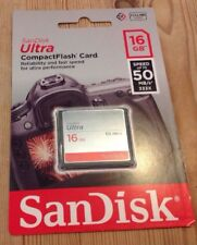 Genuine Sandisk CF compact Flash 16GB Memory Card For DSLR Cameras Canon Etc