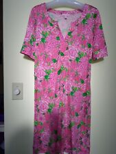 Lily Pulitzer Women's Dress Size 6 Silk Floral Stretch Pink