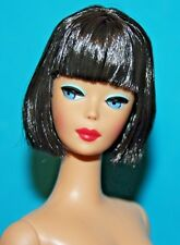 VHTF Vintage Barbie Repro NUDE Brunette American Girl Bendable Leg w TAG & STAND