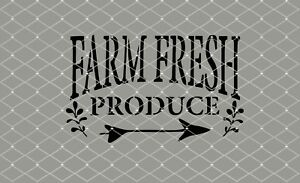 STENCIL Farm Fresh Produce Stencil  10x6