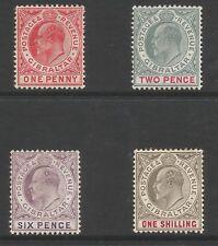 GIBRALTAR  EVII 1904-8 SELECTION OF 4 TO 1/- FRESH MINT CAT £105 MINIMUM
