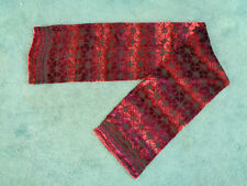 """Tactile Burn Out Velvet Dark Pink Double Sided Long Thin Scarf 57"""" x 10.5"""""""