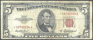 1953A $5 Legal Tender Star Note