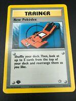 New Pokedex 1st Edition 95/111 Neo Genesis Pokemon TCG Card NM 2000