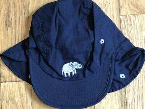 NEW Vintage Navy Blue GYMBOREE Baseball ELEPHANT Pop Safari HAT 6-9-12-18 mo NWT