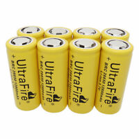 8x 26650 Li-ion Battery 12800mAh 3.7V Rechargeable Batteries For Flashlight Toy