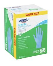 Equate Nitrile Examination Gloves Fit Either Hand Powder-free One Size 200-Count