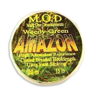15lb MOD AMAZON COATED BRAID HOOK LINK MOSS GREEN.FOR CARP RIGS