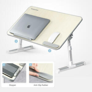 """Adjustable Laptop Bed Stand Portable Notebook Lap Desk Table for 17"""" Laptop"""