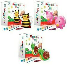 Childrens Paint Your Own Money box Piggy Bank Kids Craft Pig Snail Or Bee