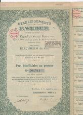Etablissements F.Wever S.A.-Kirchheim-Bas Rhin-Action 500 Francs v.1924