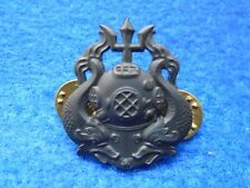 GENUINE U.S. ARMY MASTER DIVERS BADGE, BLACK HELMET & DOLPHINS, SPECIAL FORCES
