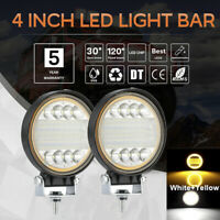 4 Inch 72W Round LED Work Light Spot Driving Lamp Headlight Offroad ATV Truck Kn