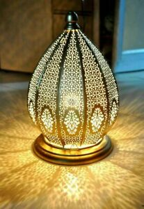 Moroccan Turkish Bed Side Lamps Vintage Outdoors Floor Gold Table Decor Lamp