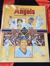 1985 CALIFORNIA LOS ANGELES ANGELS SILVER ANNIVERSARY YEARBOOK 1961-1985 25th
