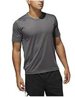 adidas Men's FreeLift Fitted 3-Stripes Training Tee, Grey,, Grey, Size X-Large m