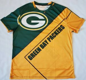 New Green Bay Packers NFL Shirt Size Large Green & Yellow