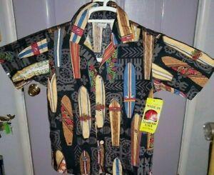 NWT   ✨    Vintage   Hawaiian   Button up  Aloha  Shirt     Kids  7