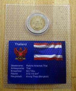 Thailand - 10 Baht - 2004 - Königin Sirikit - unc + eingeschweißt