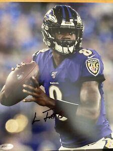 Lamar Jackson Hand Signed Autographed 8x10 Photo Baltimore Ravens NFL - COA