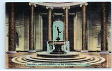 *Rotunda Statue Fountain National Gallery of Art Washington DC Postcard B66