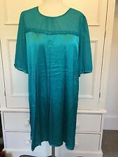 LONG TALL SALLY, SIZE 16. JADE SILKY STUNNING DRESS.