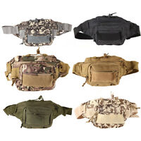 Outdoor Military Tactical Waist Pack Shoulder Molle Bag Hiking Camping Pouch Bag
