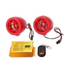 SPEAKER MOTO MANUBRIO AUTO TELECOMANDO CASSE LETTORE MP3 USB SD MMC 12V MUSICA