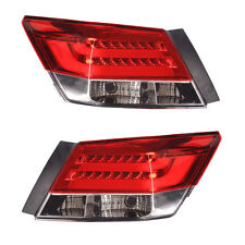 For 2008-2012 Honda Accord Set of 2 Rear Led Brake Tail Lights 4 Door Sedan New