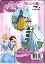 Simplicity 2817 Disney Princess Costumes Girls Szs 3 to 6