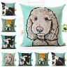 Decor Cotton Lovely Dogs Throw Cover Home Cushion Case Sofa Square Pillow FUNNY