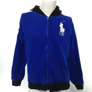 POLO RALPH LAUREN Youth Boys Full Zip Hooded Long Sleeve Sweatshirt Big Pony XL