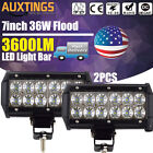 """7""""inch 36W CREE LED Work Light Bar Flood Beam Driving 4WD Offroad Truck Jeep"""