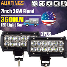 "7""inch 36W CREE LED Work Light Bar Flood Beam Driving 4WD Offroad Truck Jeep"
