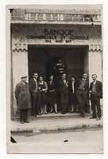 CARTE PHOTO - Groupe Banque commerciale et agricole du Sud Est - Vers 1930.