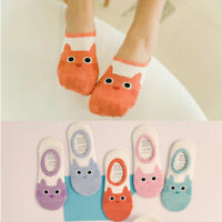 Women Invisible No Show Nonslip Loafer Boat Ankle Low Cut Cotton Socks Cute Cat