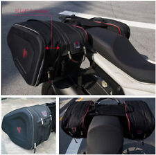 Great Capacity Extensible Motorcycle Saddle Bags Luggage Pannier +2x Rain Cover
