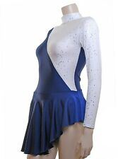 Skating/Majorette Dress Navy Lycra/Silver *New DESIGN*