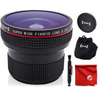 Opteka .20X Fisheye Lens and Cloth for Sony E a9 a7 a6500 a6400 a6300 a6000 NEX