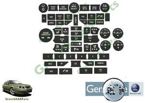 SAAB NG 9-5 (2010>2012) Control Panel Button Overlays, New Genuine SAAB Part