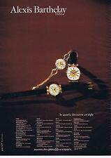 PUBLICITE ADVERTISING 114 1979 ALEXIS BARTHELAY montre à quartz