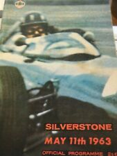 SILVERSTONE F1 1963 PROGRAMME JIM CLARK GRAHAM HILL BRM TOJEIRO ECURIE ECOSSE FJ