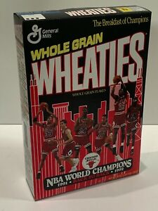 Michael Jordan Chicago Bulls 1992 Champions Wheaties Full Sealed Cereal Box Mint